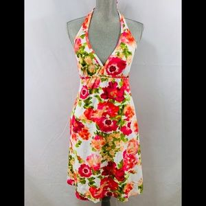 Tommy Bahama floral halter dress with built in bra